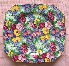 plate--chintz; wish I knew the pattern