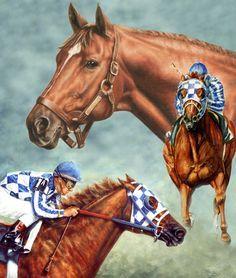 ~` secretariat the legend . artist thomas allen pauly . via fine art america `~