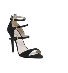 36dde10184d1 Office Annie 4 Strap Heels Black Suede - High Heels