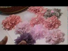 Butterfly Shabby Chic Flower - YouTube