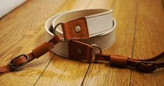 Camera Leather Strap - Custom and Cool Accessory for SLR, Hybrids and Compacts. €50.00, via Etsy.