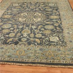 Beautiful rug ... maybe for living room one day if I save my pennies - Capri Isle Blue Hand-knotted Rug | Shades of Light