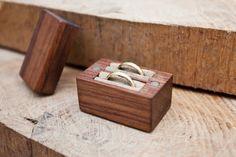 Double bague de mariage - boite porteur de l'anneau - support de bague - sur commande