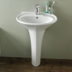 Opel Oval Basin Sink and Pedestal