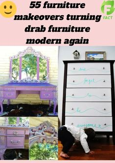 Chair Makeover, Furniture Makeover, Painting Antique Furniture, Diy Crafts For Adults, Mandala Stencils, Weird Facts, Diy Craft Projects, Fabric Crafts, Hacks