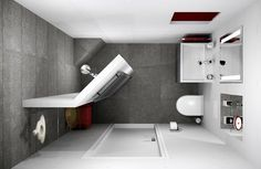 25 small bathroom remodeling ideas creating modern rooms to increase home values shower - Planner bagno 3d ...