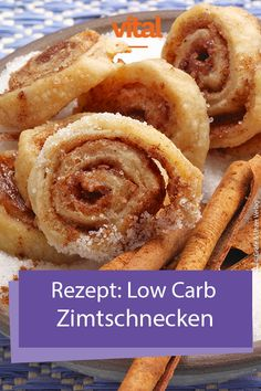 Rezepte: Low Carb Zimtschnecken - My list of simple and healthy recipes Low Carb Desserts, Low Carb Recipes, Baking Recipes, Healthy Recipes, Salad Recipes, Healthy Baking, Healthy Snacks, Dinner Healthy, Law Carb