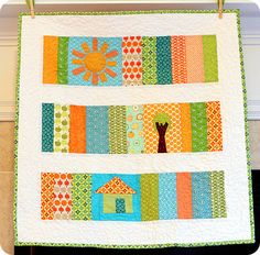 fun little mini quilt with a house and tree...sigh