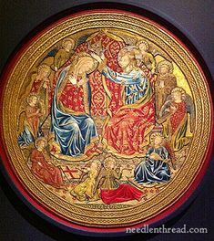 15th Century Embroidery on Altar Frontal: Coronation of the Virgin, Cleveland Museum of Art