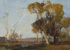 Sydney Long ~ Art Nouveau and Symbolist painter Australian Painting, Australian Artists, Landscape Art, Landscape Paintings, Landscapes, Magical Images, Art Society, Art Courses, Painting Inspiration