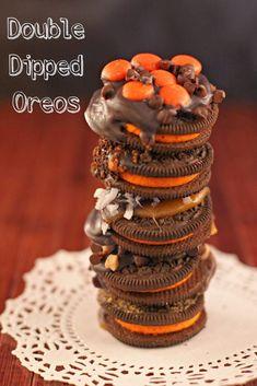 Caramel Apple Inspired Double Dipped Caramel Oreos :https://www.asparkleofgenius.com/double-dipped-caramel-oreos/
