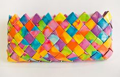 End of the Rainbow Eyeglass Case - Candy Wrapper Style