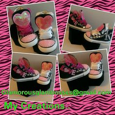 Made to Order Customized Bling Shoes.. Designs Vary depending on availability of materials