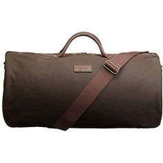 Buy Barbour Wax Cotton Holdall, Brown Online at johnlewis.com