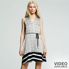 Shift Dress With Tie Waist