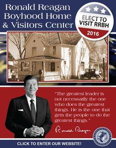 Outside Ronald Reagan S Hometown Dixon Illinois