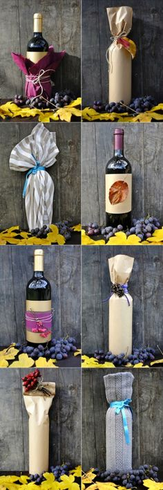 how to wrap up a wine bottle
