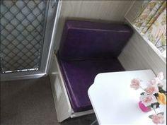 Original purple vinyl seats! Vintage Viscount caravan