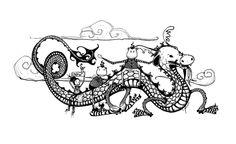 zazdesign for the year of the dragon calendar