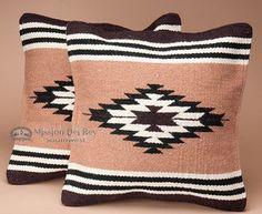 Pair Southwestern Pillow Covers 18x18 -Anasazi Pattern