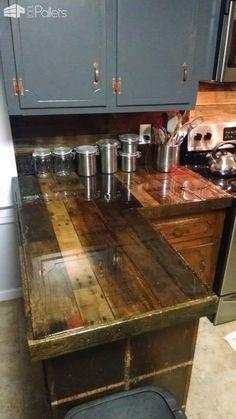 Pallet Countertops & Backsplash Pallet Desks & Pallet Tables
