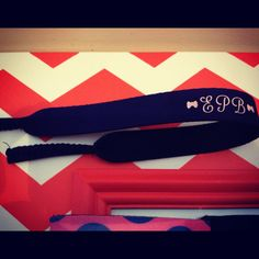 Custom Monogrammed Croakies for your sunglasses. $8.50, via Etsy.