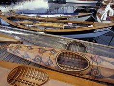 Beautiful wood kayaks