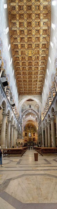 Interior view of the Duomo of Pisa, Italy.