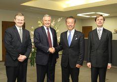 Mr. David APPIA, Invest in France Agency's President, meeting Mr.YAMASHITA, Horiba's Deputy Managing Director, in Japan.