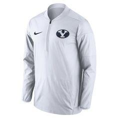 8dff774378f Men s Nike White BYU Cougars Coaches Sideline Lockdown Performance Half-Zip  Jacket - CBSSports.