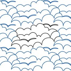 The banks of puffy clouds are nice, but I really love the seagulls. Bay View - Digital - Quilts Complete - Continuous Line Quilting Patterns Quilting Stencils, Quilting Templates, Longarm Quilting, Free Motion Quilting, Quilting Ideas, Quilting Stitch Patterns, Machine Quilting Patterns, Quilt Stitching, Quilt Patterns