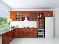 Wooden Kitchen Cabinets, Kitchen Cupboard Designs, Kitchen Cabinet Styles, Kitchen Sets, Kitchen Furniture, Kitchen Decor, Open Kitchen, Beautiful Kitchen Designs, Modern Kitchen Design