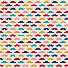 Tissu Petites moustaches coloris Pomme d'Amour par Aime comme Marie