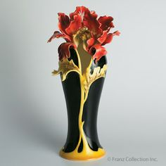 Franz Collection - Peony Porcelain Vase.