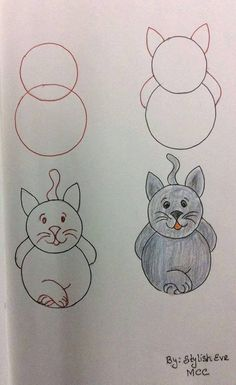 Simple drawings for kids Easy Drawings For Kids, Drawing For Kids, Art For Kids, Simple Drawings, Drawing Ideas, Doodle Drawings, Animal Drawings, Doodle Art, Drawing Animals