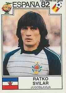 Ratko Svilar of Yugoslavia. 1982 World Cup Finals card. 1982 World Cup, Fifa World Cup, Sport Football, Football Players, Football Stickers, World Cup Final, Yoga For Weight Loss, Goalkeeper, Yoga Teacher