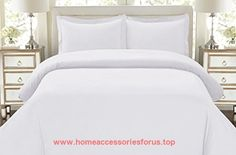 HC COLLECTION-1500 Thread Count Egyptian Quality Duvet Cover Set, 3pc Luxury Soft, All Sizes & Colors, King-White  BUY NOW     $79.99     HC Collection  Ultimate blend of craftsmanship and elegance, our linens are designed to of ..  http://www.homeaccessoriesforus.top/2017/03/05/hc-collection-1500-thread-count-egyptian-quality-duvet-cover-set-3pc-luxury-soft-all-sizes-colors-king-white/