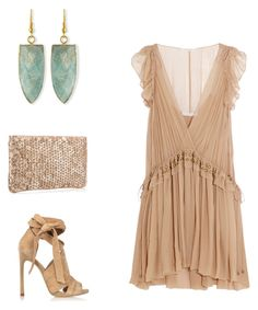 Nude by fashionablylateky on Polyvore featuring polyvore, мода, style, Chloé, River Island, Christian Louboutin, Panacea, fashion and clothing