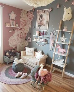 Amazing little girls room - read our brief article for more ideas! Amazing little girls room – read our brief article for more ideas! Baby Bedroom, Girls Bedroom, Bedroom Decor, Room Girls, Fantasy Bedroom, Girl Bedroom Designs, Little Girl Rooms, My New Room, Playroom