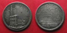 1815 Frankreich - Medaillen STRASBOURG 800 YEARS CATHEDRALE 1815 tin medal 55mm VF # 93056 ss