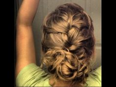 French Braid Updo With A Bun Tutorial