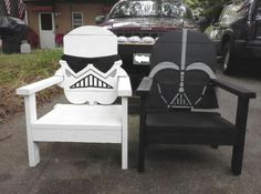 Star Wars chairs for all the fans out there.