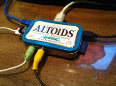 Share this:If you have a Raspberry Pi computer board, you can make a great case for it out of an Altoids mint tin. You'll need: 1 Raspberry Pi computer board 1 Altoids mint tin 1 Plastic gift ca Electronics Projects, Arduino Projects, Diy Electronics, Diy Projects, Computer Projects, Raspberry Pi Computer, Altoids Mints, Rasberry Pi, Raspberry Case