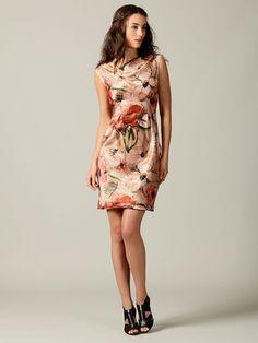 Alberta Ferretti silk floral dress