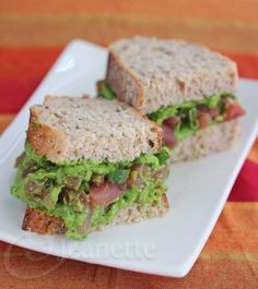 Preventing Alzheimer's Disease - Ahi Tuna Sandwich with Spinach Avocado Pesto Recipe {Giveaway} - Jeanette's Healthy Living