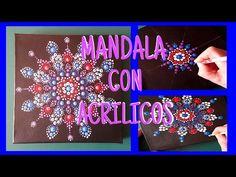 Como pintar mandalas con acrilicos-How to paint mandalas with acrylics - YouTube