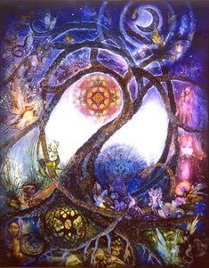 tree of life including sun and moon, more images of nature