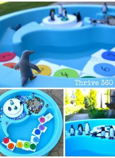 Penguin Small World Play with Number Icebergs - Awesome!