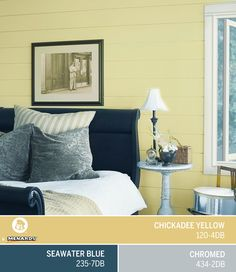 good night s sleep in a bedroom painted in dutch boy s march color. Black Bedroom Furniture Sets. Home Design Ideas