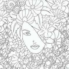 Adult Coloring Book, Printable Coloring Pages, Coloring Pages, Coloring Book for Adults, Instant Download, Faces of the World 2 page 8